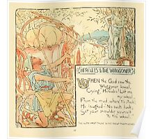 The Baby's Own Aesop by Walter Crane 1908-19 Hercules and The Waggoner Poster