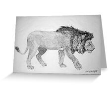 Lion #2 Greeting Card
