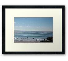 Loan Paddler Framed Print
