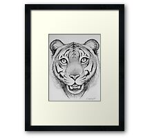 Tiger Head Framed Print