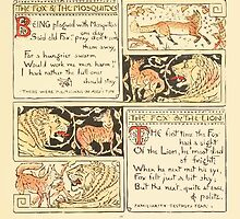 The Baby's Own Aesop by Walter Crane 1908-25 The Fox and the Mosquitoes, The Fox and the Lion by wetdryvac
