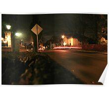 Red Back Light Street Poster