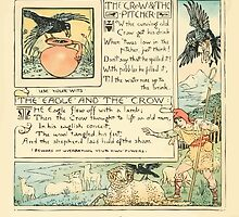 The Baby's Own Aesop by Walter Crane 1908-42 The Crow and the Pitcher, The Eagle and the Crow by wetdryvac
