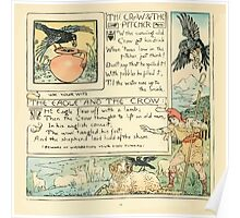 The Baby's Own Aesop by Walter Crane 1908-42 The Crow and the Pitcher, The Eagle and the Crow Poster