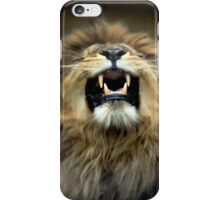 The lion roars iPhone Case/Skin