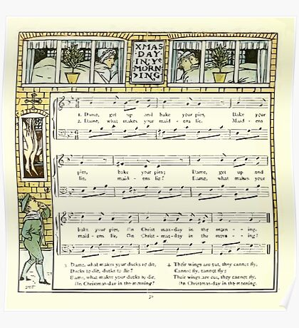 The Baby's Opera - A Book of Old Rhymes With New Dresses - by Walter Crane - 1900-34 Christmas Day In Ye Morning Poster