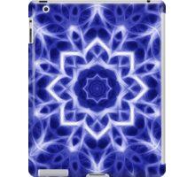 Glowing Blue and White Kaleidoscope Mandala iPad Case/Skin