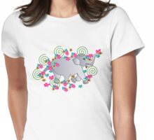 BabyElephant Womens Fitted T-Shirt