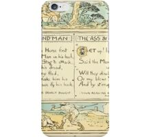 The Baby's Own Aesop by Walter Crane 1908-24 Horse and Man, The Ass and The Enemy iPhone Case/Skin