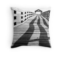 Shadowy Pier Throw Pillow