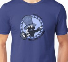 Welcome to Spire - Storm-cloud Blue Unisex T-Shirt