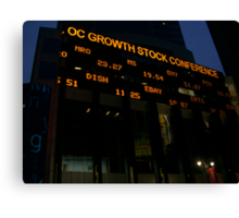 Stock Market Canvas Print