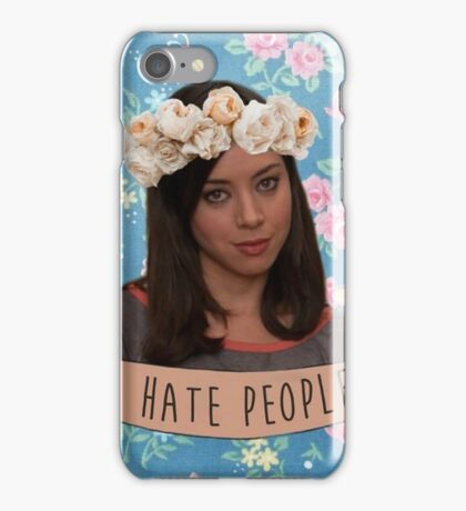 I Hate People - April Ludgate iPhone Case/Skin