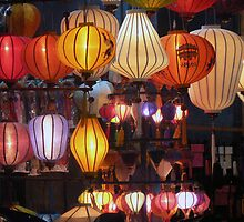 Hoi An lantern shop - window front by John Mitchell