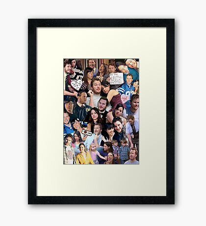 April and Andy - Parks and Recreation Framed Print