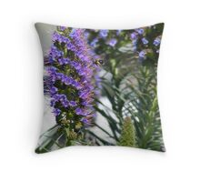 Bumble Bee Stalls in Flight Throw Pillow