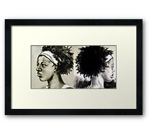 good hair day   |   bad hair day Framed Print