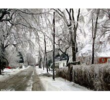 Small Town Winter Photographic Print