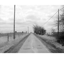 Country road scene Photographic Print