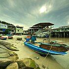 Hua Hin boat  by Rob Hawkins