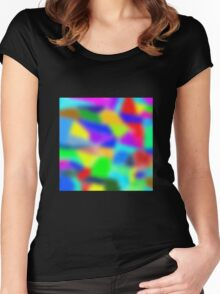Color Carnival #1 Women's Fitted Scoop T-Shirt