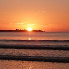 Setting Sun at Long Beach. 'Robe' Limestone Coast. by Rita Blom