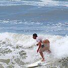 A crack shot ... Waves at Burleigh Beach  by Virginia McGowan