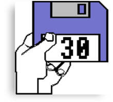 Amiga Bootup Disk for 30 Anniversary of Amiga Canvas Print