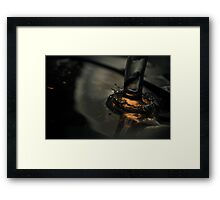 Golden Splash Framed Print
