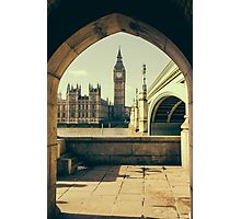 Big Ben Under The Arch Photographic Print