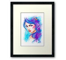 woman fantasy beautiful portrait  Framed Print