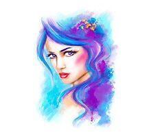 woman fantasy beautiful portrait  Photographic Print