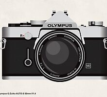 Olympus OM1 35mm slr by kinographics