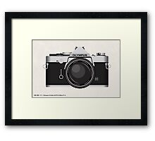 Olympus OM1 35mm slr Framed Print