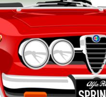 Alfa Romeo Sprint GTV caricature red Sticker