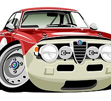 Alfa Romeo Giulia Sprint GT caricature by car2oonz