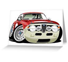 Alfa Romeo Giulia Sprint GT caricature Greeting Card