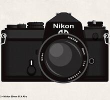 Nikon FE 35mm slr by kinographics