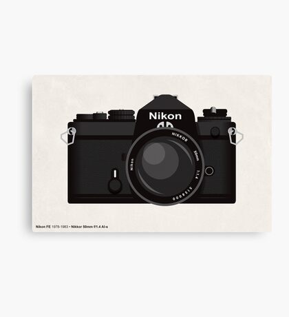 Nikon FE 35mm slr Canvas Print