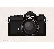 Nikon FE 35mm slr Photographic Print