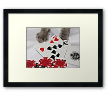 Festus Has a Pair of Tens with Ace High...  Framed Print