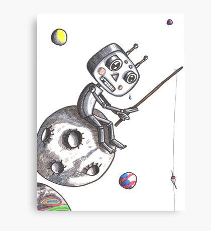 Fishing Robot Canvas Print