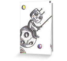 Fishing Robot Greeting Card