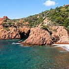 Esterel Massiv and Mediterranean Sea by GOSIA GRZYBEK