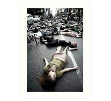 montreal die-in Art Print