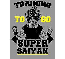 TRAINING TO GO SUPER SAIYAN (BOLD EDITION) Photographic Print