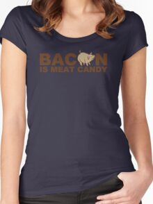 Bacon Is Meat Candy Mens Womens Hoodie / T-Shirt Women's Fitted Scoop T-Shirt