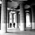 B&W Gaudi Columns by Honor Kyne