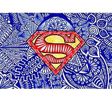 Superman zentangle art Photographic Print