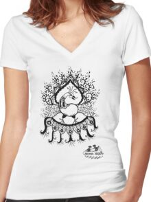 Peacock#1 Women's Fitted V-Neck T-Shirt
